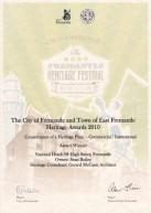 City of Fremantle Heritage Award 2010. Sean Butler (2)